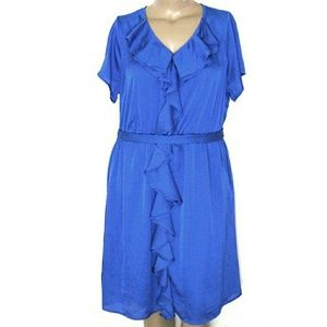 🎄🆕Lane Bryant 18/20, Royal Blue Ruffle Mini